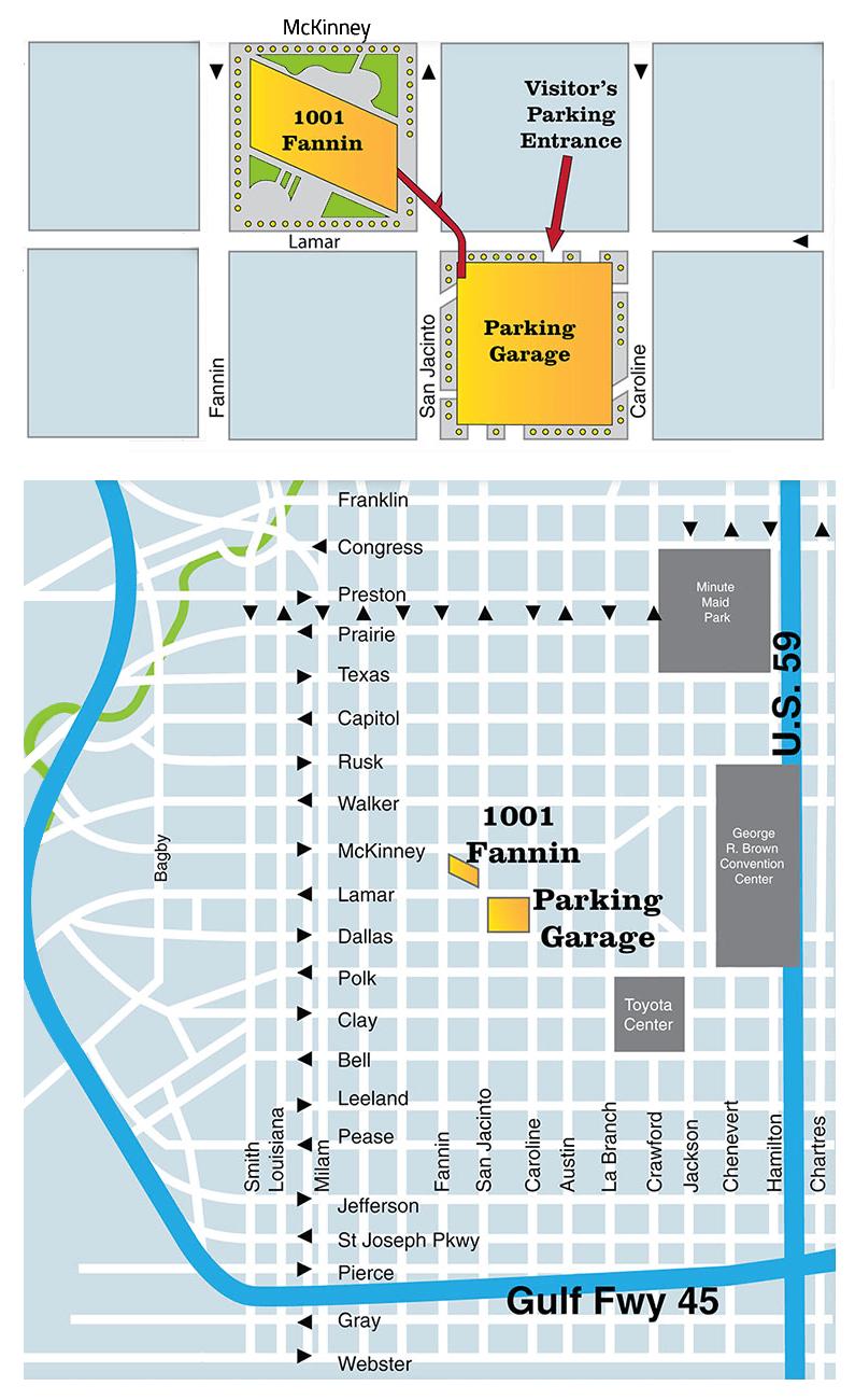 Enervest Parking Map